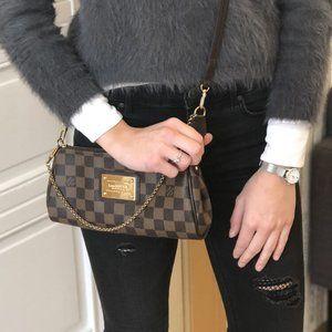 authentic Louis Vuitton Damier Ebene EVA
